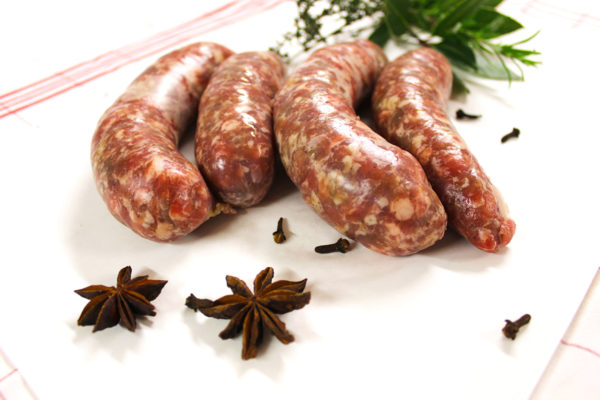 Photographie des saucisses de Toulouse de la société EARL Agriporc